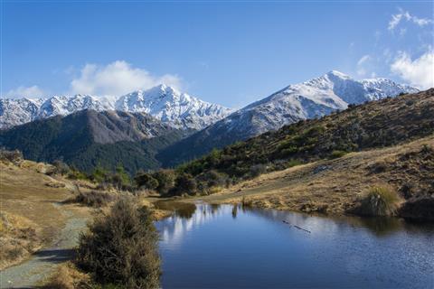 See in den Bergen bei Queenstown Neuseeland