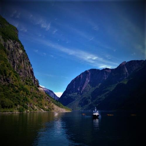 Blick in den Geiranger Fjord