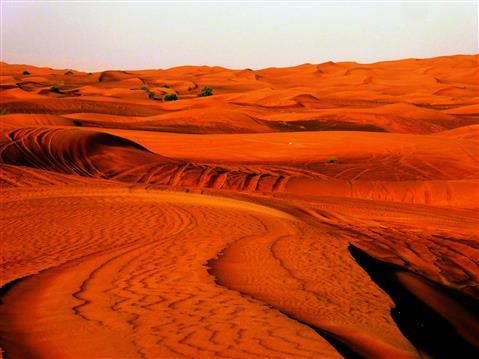 Blick in die arabische Wüste