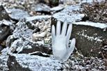 Die kalte Hand des Winters von Väterchen-Frost..