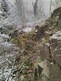 Steinbruch im Winter