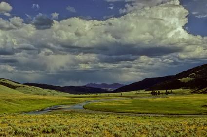 prairie mit wolken