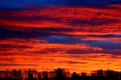 wolken im morgenrot