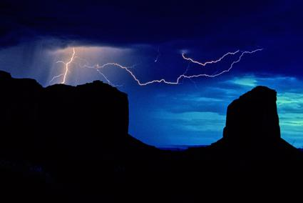 gewitter im monument valley