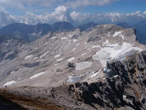 schneeferner gletscherrest