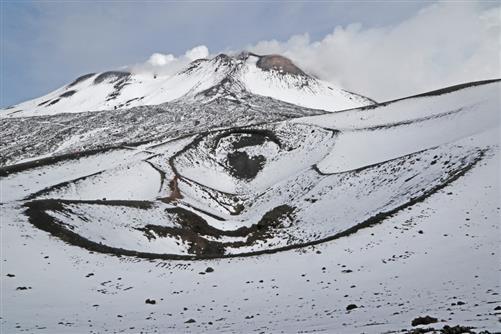 ätna, alte krater