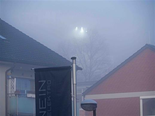 ufo im nebel