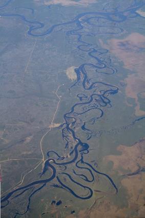 natürliche flusslandschaft