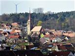 Blick nach Sachsen / Mfr. - von Lichtenau / Roggenberg aus
