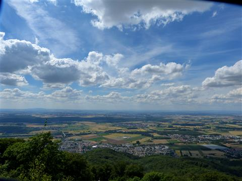 Blick in den Rheingau bei Zwingenberg
