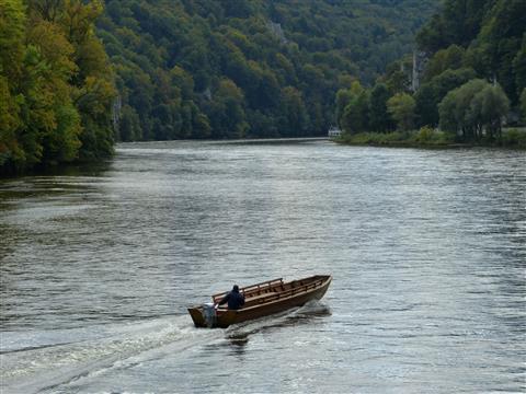 Donaudurchbruch Ausgang Flussabwärts