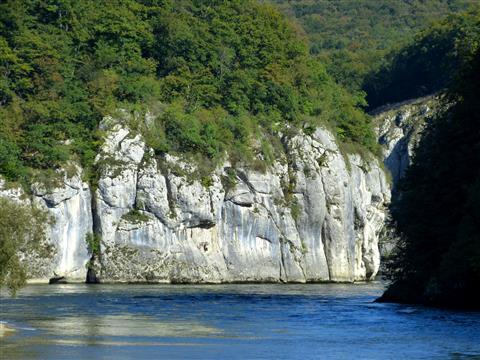 Donaudurchbruch Eingang Flussabwärts