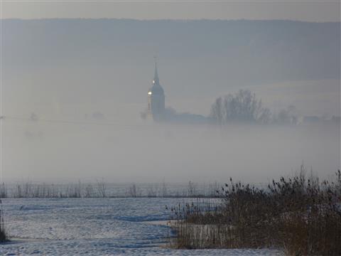 Aha bei Gunzenhausen im Nebel