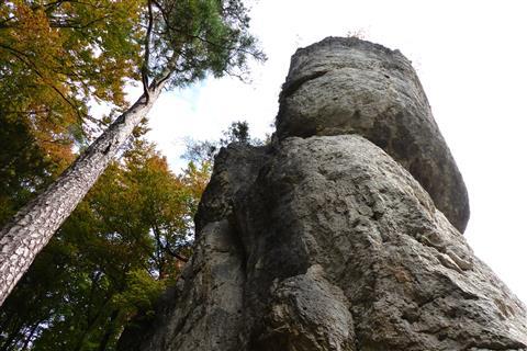 Pfeiler der Mittelbergwand in der Hersbrucker Schweiz