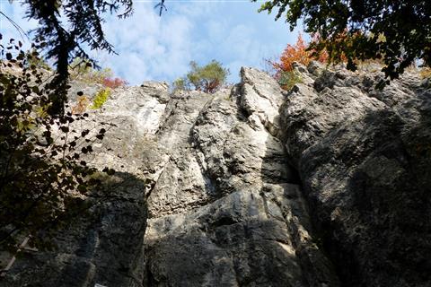 Die Mittelbergwand bei Hirschbach in der Hersbrucker Schweiz
