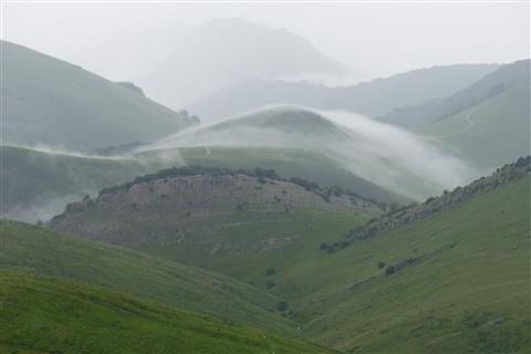 Regentag in den Pyrenäen