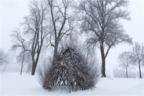 luftiges Winterwigwam