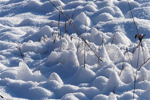 verschneites Indianerdorf