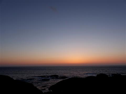 blaue Stunde bei Muxia in Spanien