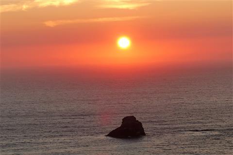 Sonnenuntergang vor dem Kap Finisterre, Spanien