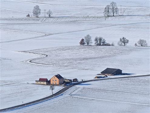 Winterland unterhalb des Rauhen Kulm