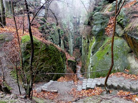 Abstieg am Kuhstall-Elbsandsteingebirge