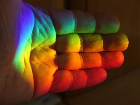 eine Hand voll Spektralfarben