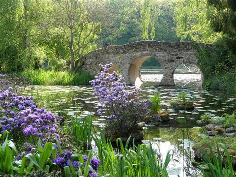 Schlosspark Dennenlohe in Mittelfranken