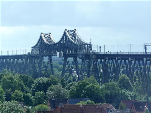 Rendsburg Eisenbahnbrücke über Nord-Ostseekanal