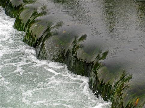 Wasserstufe in der Lauchert