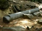 Riesensäule im römischen Steinbruch im Felsenmeer Odenwald
