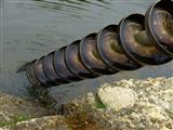 Archimedische Schraube im Karlsgraben bei Graben