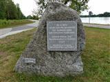 Denkwürdiger Stein an der Europäische Wasserstraße