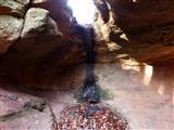 Kleiner Wasserfall im Müllersloch bei Spalt