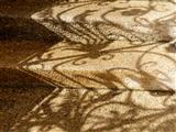Geländer-Schatten auf nasser Granittreppe