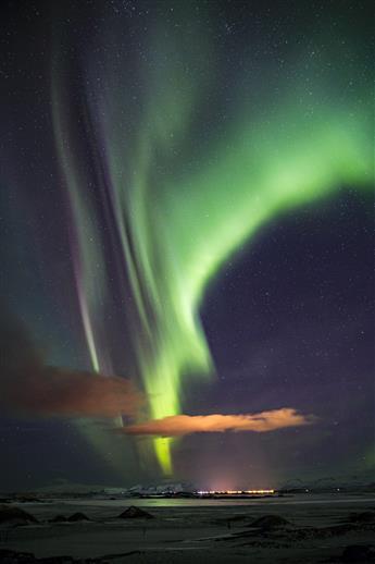 Aurora borealis, Island