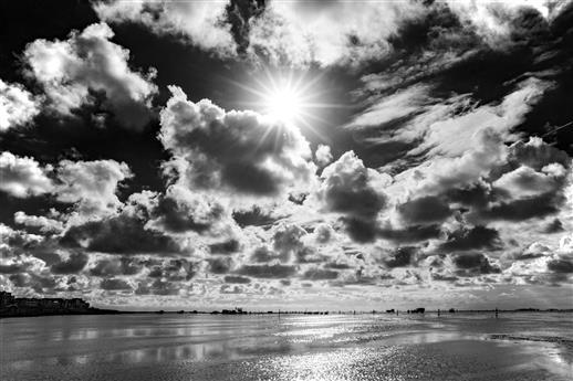 Wolkenstimmung im Watt