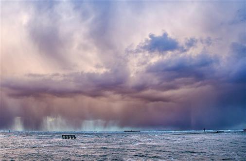 Winterlichtspiele an der Nordsee