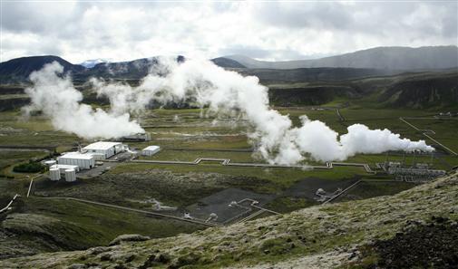 Erdwärmekraftwerk auf Island