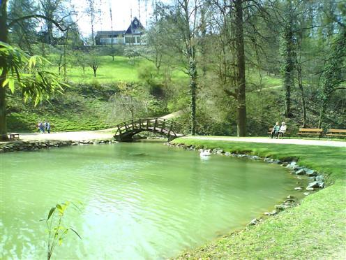 Kleiner See im Park des Fürstenlagers, Bensheim-Auerbach