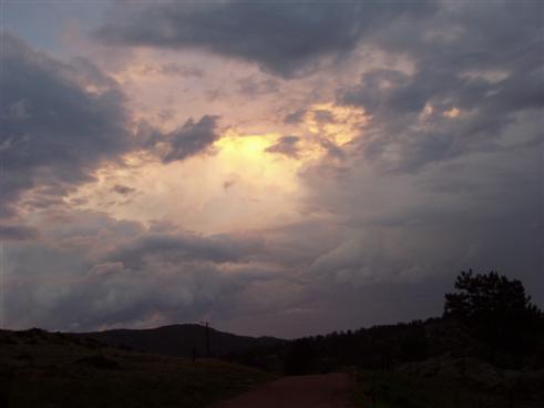 Interessanter Gewitter-Himmel in Colorado