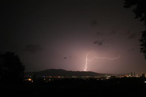 Blitz über Linz