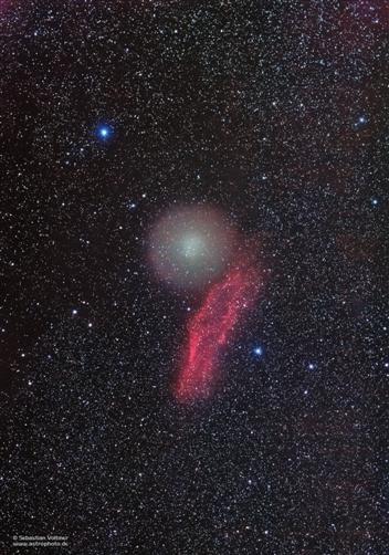 Komet Holmes und California-Nebel