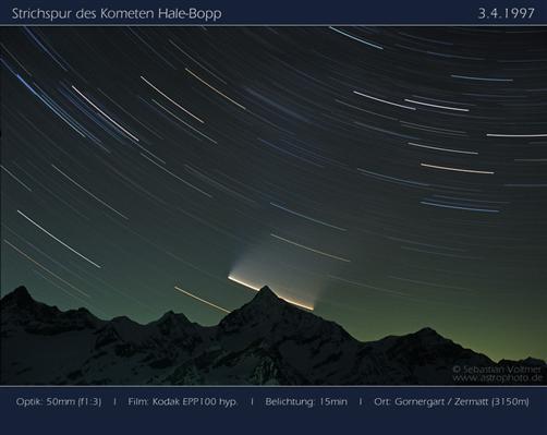 Strichspur von Komet Hale-Bopp