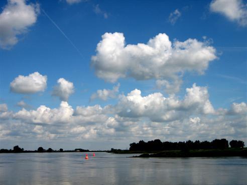 Die Elbe nördlich von Magdeburg