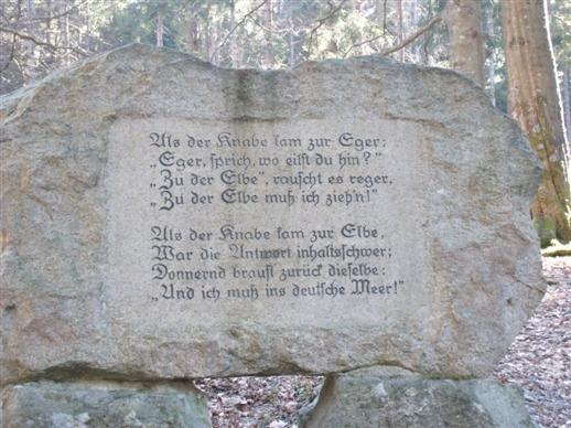 Das Gedicht zur Eger Quelle.