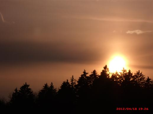 Sonnenuntergang über den Kalvarienberg