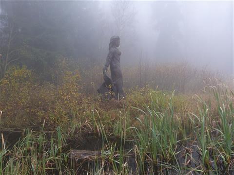 Frau Holle im Nebel