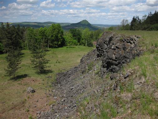 Ehemaliger Basalt-Abbau am Hohenstoffeln
