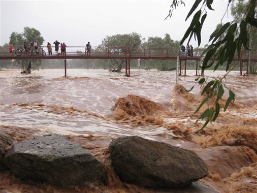 Hochwasser in Alice Springs